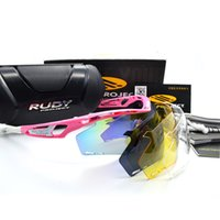 Wholesale Rudy Lens - Hot 4 Lens Polarized Cycling Rudy Sunglasses Brand Outdoor Sports Glasses MTB Bike Riding Goggles Eyewear Gafas Cicismo 7 Color Free Shippin