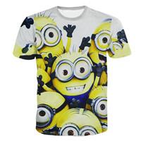 Wholesale Despicable Minions Tshirt - Wholesale-New summer women men Despicable Me Minions funny t-shirt Casual print t shirts harajuku tshirt tops