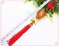 Wholesale Traditional Folk Crafts - 6pcs Free shipping FISH FU traditional Chinese tradspring festival China knot craft China node medium shipping wire