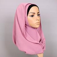 Wholesale 75cm Shawl - Laven women wrinkle floral print Scarves bubble chiffon crumple shawls muslim hijab head wrap muffler scarf 20 colors 180*75cm YW49
