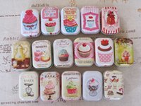 Wholesale Korean Wedding Candy - Free shipping mini cute boxes Tin pure color boxes Sweet box wedding candy box wedding favors mini case