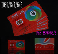 Wholesale Gevey 4g - Newest E-paper Gevey r Sim 10 Unlock Card Perfect unlock 4g 3g ios9 ios 8 7.X 9 for iphone 6S plus 6 5s 6plus 4s AT&T Sprint sim WCDMA CDMA