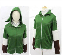 The Legend of Zelda Link Hoodie Zipper Coat Jacket Hoodies Maglione Costume Cosplay per gli uomini