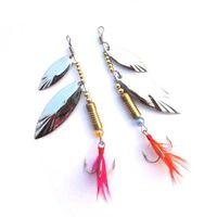 isca spinner toptan satış-10 adet / grup Spinner Kaşık Metal Cazibesi Iscas Yapay Yem Balıkçılık Cazibesi Isca Yapay Sert Yem Balıkçılık Hooks Spinner Bıçakları olta takımı