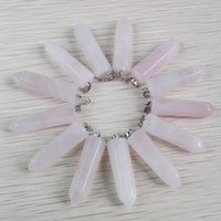 Livraison gratuite Fahsion Hot Selling Natural Stone Rose quartz Pendentifs Charms Point Pendants Teardrop 24Pcs / Lot Wholesale
