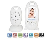 Wholesale Two Way Security Video Monitor - 2.0 inch Color Video Wireless Baby Monitor Security Camera 2 Way Talk Nigh Vision IR LED Temperature Monitoring with 8 Lullabies