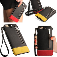 Wholesale Iphone Wallet Lanyard - Wallet Leather Case Cover Pouch With The lanyard for iPhone 5S 6 6S PLUS Aplle 6 6s 4.7 inch 5.5 inch Cases