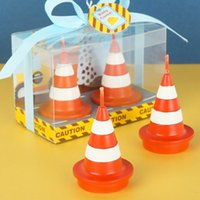 Wholesale Traffic Toys - Birthday Party Supplies Smokeless Candles Boy Traffic Props Toy Cone Cake Candles Wedding Decoration Scented Candles Velas Decor