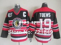 blackhawks purple jersey Canada - Factory Outlet, in the winter Chicago Blackhawks Jerseys 19 Jonathan Toews Vintage Hockey Jersey CCM with 75 Anniversary Patch free shipping