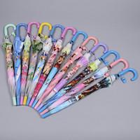 Wholesale Sun Umbrella Quality - High quality New Umbrella Children Kids Princess Rain Sun Proof Christmas Accessories Gifts 50pcs lot IC858