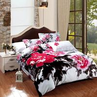 Wholesale Housse Couette 3d - Wholesale-High quality 3d bedding sets summer style bed linens 100% cotton bedding 3d bed set duvet cover set housse de couette sabanas30