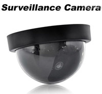 Wholesale Wholesale Dummy Cctv - HOT Fake Dummy Dome Surveillance CAM Dummy Indoor Security CCTV Camera flashing for Home Camera LED
