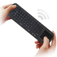 Wholesale-Original Brand Keyboard Measy RC12 2.4G USB-drahtlose Tastatur Touchpad Air Fly Maus für Mini-PC / Android TV Box