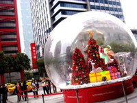 Wholesale Inflatables Business - (Specialty Store) inflatable snowflake ball or inflatable Snowdome 2 M diameter Cartoon background exhibition start business indispensable