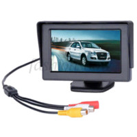 """Wholesale Slim Car Dvd - 2014 High Resolution 4.3"""" Color TFT LCD Car Rearview Monitor for DVD VCD Camera VCR video Super Slim Dropshipping B11 1397 M39251"""