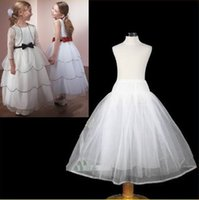 Wholesale Children Plain Stocking - 2015 Free Shipping Children Wedding Dress Accessories Under The Skirts Flower Girl Kids Petticoat In Stock Crinoline For Party Dress J818
