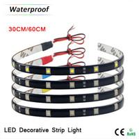 Wholesale Led Light Strips For Auto - 1xWaterproof 12V 30CM   60CM Flexible High Power LED Strip light 5050 SMD For Car Auto Decoration lamp   Daytime Running lights