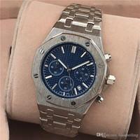aaa top brand оптовых-Все Subdials работа AAA мужские или женские часы стальной Кварцевые наручные часы секундомер роскошные часы топ бренд relogies для мужчин relojes лучший подарок
