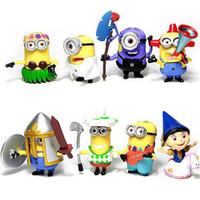 Wholesale Despicable Figurines - 2016 Minions Bob Cartoon Movie Miniature Action Figures Minion Figurines Despicable Me 2 Cheap Anime PVC Figure Set Kids Toys