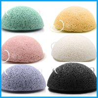 Wholesale Natural Body Cleanse - Konjac Sponge Puff Herbal Facial Sponges Pure Natural Konjac Vegetable Fiber Making Cleansing Tools For Face And Body free shipping