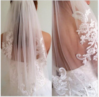 Wholesale Single Layer Veil Bridal Lace - New arrival diamond veil short design single wedding veils bridal waist-length With Comb Bridal Veils 2018 Fashion Veil for Wedding