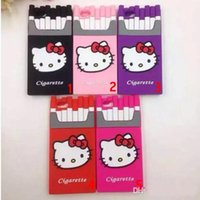 Wholesale Luxury I5 Covers - Call phone case 3D Luxury Silicone Smoking Kills Cartoon Hello Kitty Cigarette Cell Phone Case For iPhone 6 plus i6 i5 5 6s 5S Covers cases