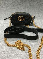 Wholesale Popular Designer Handbags - 2017 style Most popular luxury handbags men women bag designer mini messenger bags feminina velvet girl waist bag with 2216
