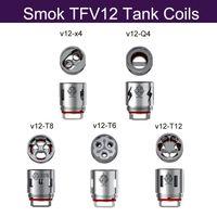 Wholesale Genius Tank - wholesale Smok TFV12 Coil Head V12-T12 V12-T6 V12-Q4 V12-X4 V12-T8 Sextuple Quadruple Coils For TFV12 Cloud Beast Tank 100% Genius