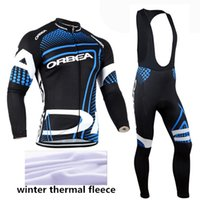 Wholesale Orbea Cycle Clothing - 2015 orbea winter thermal fleece pro team cycling jersey bicycle jersey cycling clothing sport suit mountain bike bicycle jersey long set