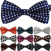 Wholesale Wholesale Cotton Mens Ties - New Fashion Mens Womens Unisex Floral Leisure Polka Dot Stripes Print Bowtie Neckwear Bow Tie free shipping