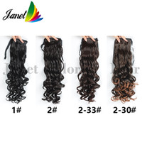 Wholesale 65cm Hair - Hot selling Long Thick Synthetic Ponytail Wavy Hair Extensions 4colors 65cm 125g Ribbon Clip In Hair Pony tail Thickest #31 Free shipping