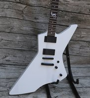 vente de palissandre achat en gros de-Custom Explorer Serpent Octet James Hetfield Signature Blanc Guitare Électrique Palissandre Touche 9V Boîte À Batteries Active EMG Pickups Top Vente
