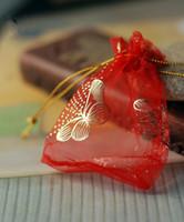 bolsas de regalo de mariposa al por mayor-Nueva Moda Mariposa de oro hilados de papel de aluminio bolsas de regalo para la joyería Bolsas Joyería Regalo de Navidad Bolsas Bolsas 7.5x9cm