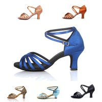 Wholesale Zapatos Baile Latino - Wholesale-Hot sale PU&Satin High Quality Latin Dance Shoes woman Ballroom&Salsa dancing shoes zapatos de baile latino mujer free
