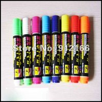 Wholesale Freeshipping mm highlighter Fluorescence pen for LED writing board colorful fluorescence marker different color set