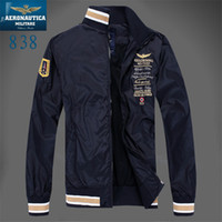 Wholesale Air Force Windbreaker - Fall-New Arrival top brand outdoors clothes Men winter Fleece Jacket, Air Force One Windbreaker Jacket ,Aeronautica Militare Coat