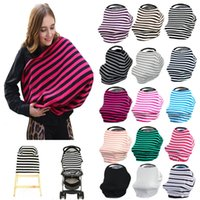 Wholesale Fashion Shopping Cart - New Fashion Baby Car Seat Cover Canopy Nursing Cover Multi-Use Stretchy Infinity Scarf Breastfeeding Shopping Cart Cover Top Quality