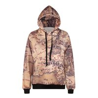 Wholesale Outwear Print Woman - w20151219 Alisister harajuku retro hooded sweatshirt 3d printed map hoodies casual long sleeve men women outwear pullovers tops coat