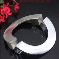 ingrosso sedie ospedaliere-nuovo argento semicircolo in lega di alluminio argento solido pomelli per porte d'epoca maniglie e tiranti in accessori per mobili da cucina # 116