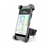 porta-telemóveis para bicicletas venda por atacado-Universal 360 rotativa suporte de telefone bicicleta bicicleta guidão clipe suporte de montagem para celular móvel inteligente com pacote de varejo
