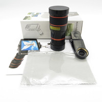 Wholesale smart clip box - universal Cat Clip 8X Zoom Lens Fish Eye Wide Angle Macro Mobile Phone Lens For smart phones in retail box