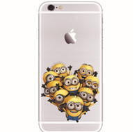 10pcs 3D Cartoon Mignon méprisé Me Minions Case Creative Colored Drawing Cases Doux TPU Back Cover Pour iphone 5 5s 6 4.7inch 6 plus XY27