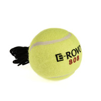 Wholesale Tennis Balls Elastic - Wholesale- Professional Yellow Rubber Tennis Balls with Elastic String Soft Exercise Trainer Training Ball Practice Wholesale