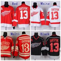 Wholesale Discounted Hockey Jerseys - Discount Cheap 2016 Winter Pavel Datsyuk Detroit Red Wings Hockey Jerseys #13 Pavel Datsyuk Jersey Red Color Stitched Jerseys