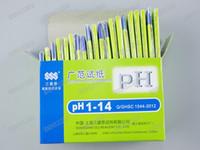 ph papel de tornasol al por mayor-400 set / lote Envío Gratis 1 Unidades 80 tiras de PH papel de prueba Prueba de pH del agua gama completa PH 1-14 Tira de tornasol Kit de Pruebas