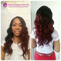 Wholesale Glueless Full Red Lace Front - Ombre Full lace wig Glueless Color #1 99J Red Lace front wig Human hair Indian Silky Straight wigs with Bleached Konts