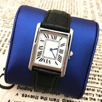 Wholesale Nice Women Dresses - Hot items Luxury women watches Square Dial Multi Colors Fashion lady Wriswtwatches dress watch famous brand free shipping High Quality Nice