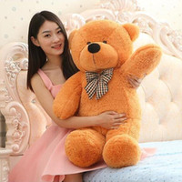 Wholesale Red Plush Teddy Bear - High quality teddy bear Plush toys 80cm teddy bear embrace bear doll  lovers christmas gifts birthday gift