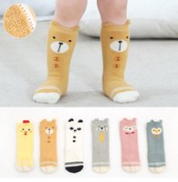 Wholesale Chicken Cat - Newborn cartoon socks baby cute owl panda chicken bear dog cat 3 4 knee high fleece socks winter toddler thicken warmer legs R1064