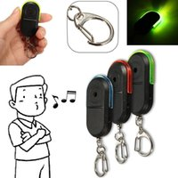 Wholesale led keychain color - Wireless Anti-Lost Alarm Key Finder Locator Keychain Whistle Sound LED Light Color best selling for you